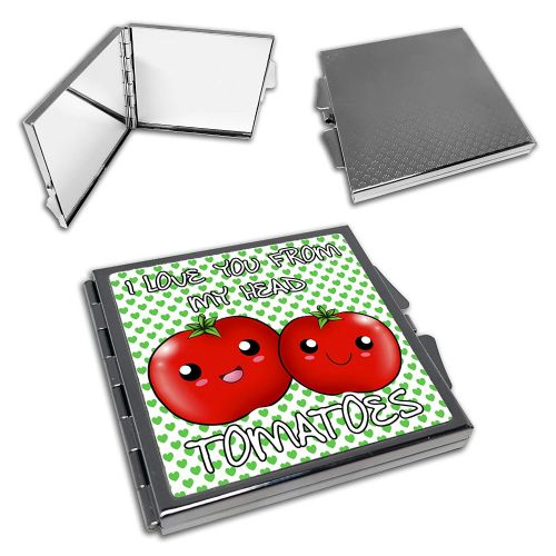 I Love You from My Head to My Tomatoes Cute Square Compact Mirror